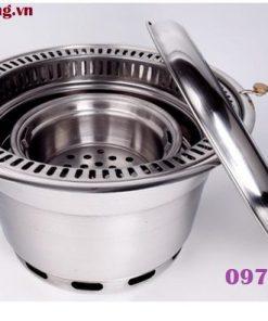 Bếp nướng than hoa không khói hút âm tại hà nội