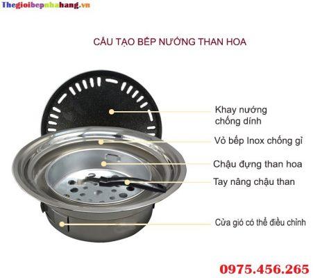 Bếp nướng than hoa Việt Nam giá rẻ tại hà nội