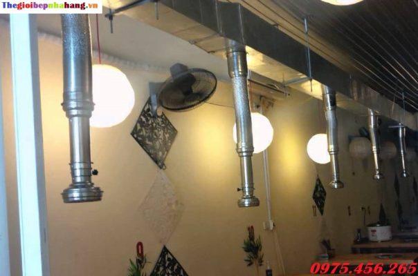 Lắp đặt hệ thống hút mùi nhà hàng lẩu nướng không khói BBQ