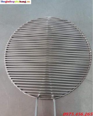 Vỉ nướng than hoa không khói inox 304 sóng ngang tại hà nội