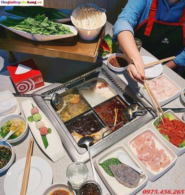 Bếp lẩu inox 4 ngăn âm bàn nhà hàng giá rẻ nhất tại hà nội