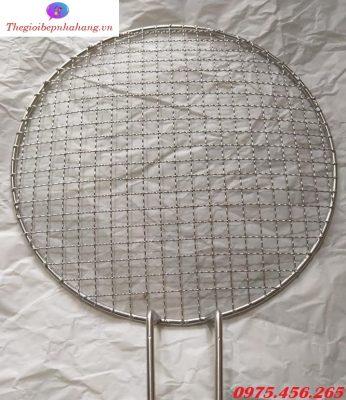 Vỉ nướng inox lưới mắt cáo 1.4ly bếp nướng than hoa âm bàn giá rẻ tại Hà Nội