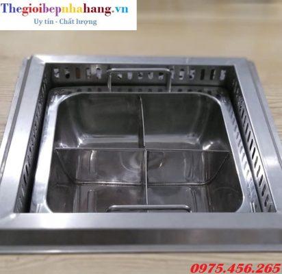 Bếp nồi lẩu inox 4 ngăn dùng cho nhà hàng giá tốt nhất tại hà nội