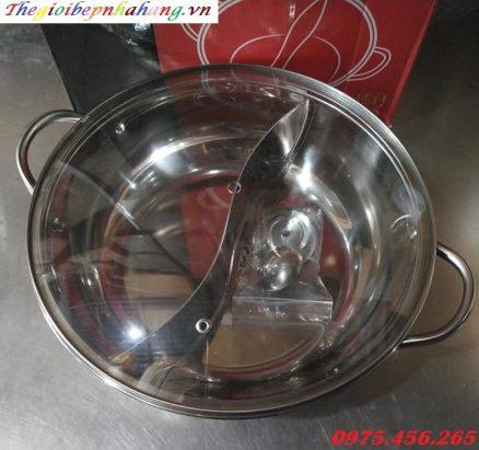 Nơi bán nồi lẩu inox 2 ngăn loại tròn dùng cho nhà hàng giá rẻ nhất