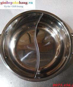 Nồi lẩu inox 2 ngăn tròn kích thước 29cm cho nhà hàng giá tốt nhất