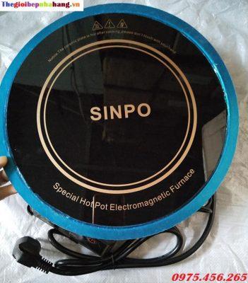 Bếp lẩu từ âm bàn tròn Sinpo kèm vành đỡ bếp inox giá tốt nhất