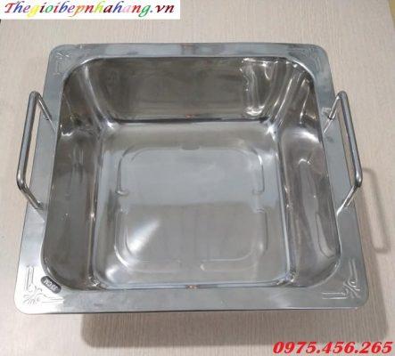 Nồi ( xoong) nấu lẩu inox một ngăn cho nhà hàng giá tốt nhất tại hồ chí minh
