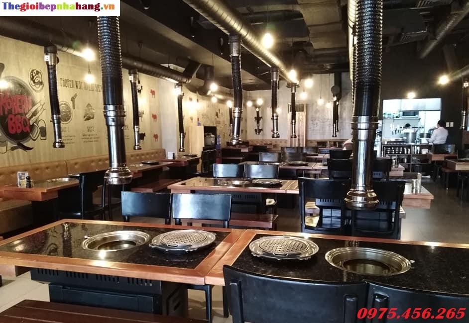 Ống hút khói bếp nướng than hoa âm bàn hút dương giá tốt nhất tại Hồ Chí Minh
