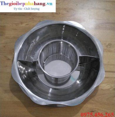 Bếp ( nồi ) lẩu 3 ngăn tròn âm bàn nhà hàng giá rẻ nhất tại hà nội