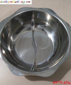 Giá bán nồi lẩu inox 2 ngăn tròn cho nhà hàng tại hà nội