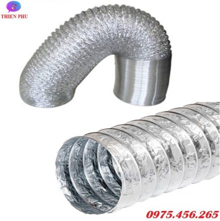 Ống bạc mềm - ống gió mềm hút mùi thông gió giá rẻ tại Hồ Chí Minh