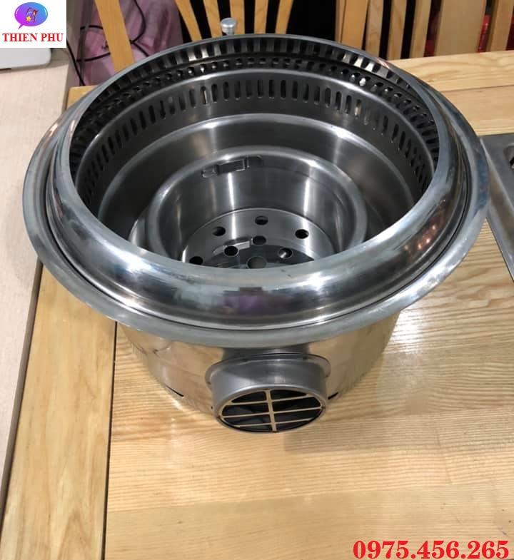 Bếp ( lò ) nướng than hoa âm bàn không khói hút âm giá rẻ tại Hà Nội