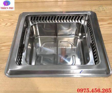 Bếp ( nồi ) lẩu 2 ngăn âm bàn có hút mùi khói giá rẻ , uy tín tại Hồ Chí Minh