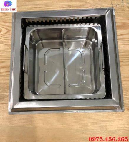Bếp ( nồi ) lẩu 2 ngăn âm bàn giá rẻ , uy tín tại Hồ Chí Minh