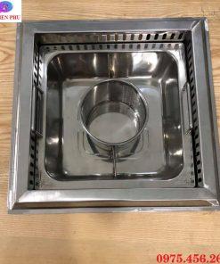 Bếp ( nồi ) lẩu 3 ngăn âm bàn nhà hàng giá rẻ tại Hà Nội