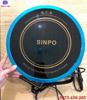 Bếp từ lẩu âm bàn tròn Sinpo kèm vành đỡ bếp inox giá rẻ tại Hà Nội