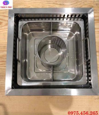 Cung cấp bếp từ lẩu 3 ngăn âm bàn khung bằng giá rẻ , uy tín tại Hà Nội