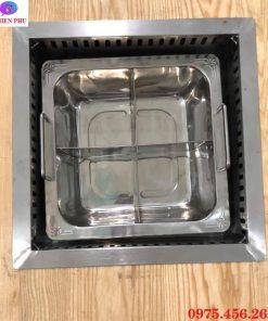Giá bán bếp lẩu 4 ngăn âm bàn khung đỡ mặt bằng tại Hà Nội
