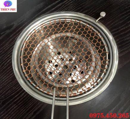 Giá bán vỉ nướng đồng nguyên chất bếp nướng than hoa hút âm tại Hà Nội