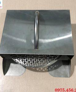 Hộp xách vỉ nướng bếp nướng than hoa âm bàn không khói giá rẻ tại Hà Nội
