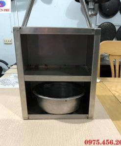 Hộp xách xô than bếp ( lò ) nướng than hoa không khói âm bàn hút dương tại Hà Nội