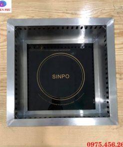 Khung đỡ bếp từ lẩu âm bàn vuông mặt bằng giá tốt nhất tại Hà Nội
