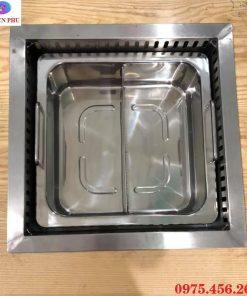 Mua bếp lẩu 2 ngăn âm bàn khung mặt bằng giá rẻ nhất ở đâu tại Hồ Chí Minh