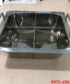 Mua nồi - xoong nấu lẩu inox 4 ngăn vuông giá rẻ , chất lượng ở đâu tại Hà Nội