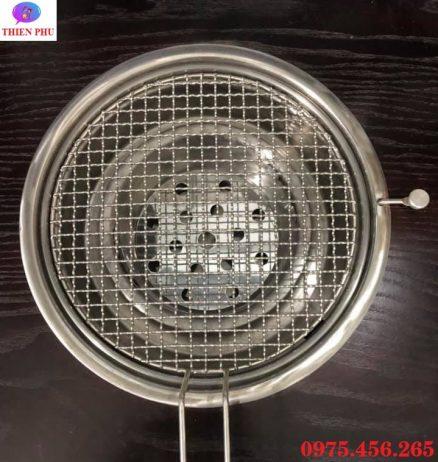 Mua vỉ nướng inox dây lưới mắt cáo bếp ( lò) nướng than hoa âm bàn hút dương tại Hà Nội