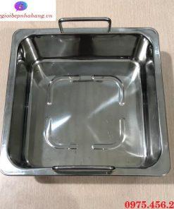 Nồi - xoong nấu lẩu inox 1 ngăn vuông nhà hàng giá rẻ , uy tín tại Hà Nội