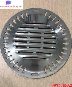 Vỉ nướng inox 304 chống dính đúc lỗ bếp nướng than hoa âm bàn hút âm tại Hà Nội