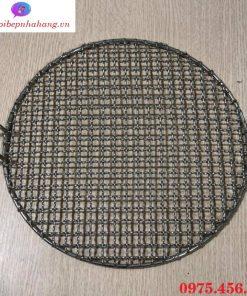 Vỉ nướng inox dây lưới mắt cáo bếp nướng than hoa không khói giá rẻ